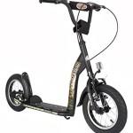 BIKESTAR-Premium-Lieblingsspielzeug-Kinderroller-Bestseller-in-seiner-Klasse-und-geeignet-ab-6-Jahren--12er-Sport-Edition--Teuflisch-Schwarz-matt-0