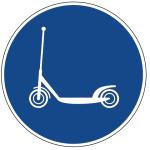 Tretroller-Verkehszeichen